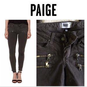 Paige zipper jeans skinny leggings